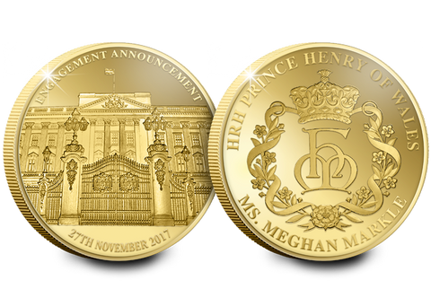 The Royal Engagement Gold-Plated Commemorative - The Westminster Collection International