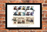 Harry Potter Stamps Framed Presentation - The Westminster Collection International