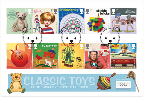Classic UK Toys First Day Cover