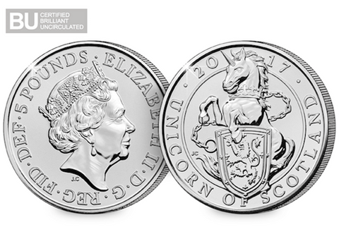 2017 UK Unicorn of Scotland CERTIFIED BU £5
