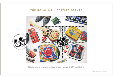 Own the Beatles Miniature Sheet on a Limited Edition Collector Card