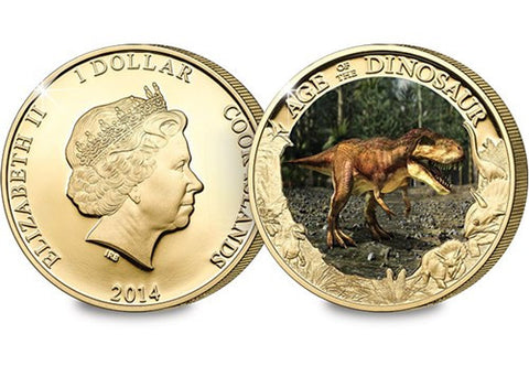 The Interactive Tyrannosaurus Rex 24 Carat Gold-plated Coin