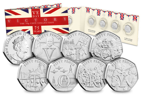 The Complete VE Day 75th Anniversary 50p Collection - The Westminster Collection International