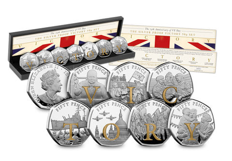 The Complete Victory Silver Proof 50p Collection - The Westminster Collection International