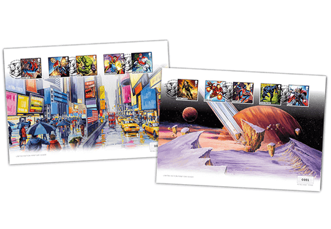 Own the NEW MARVEL Comics Stamps on the special 'Artist Edition' Cover Pair - The Westminster Collection International
