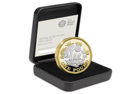 UK 2017 New 12-Sided Silver Proof £1