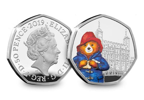 UK 2019 Paddington at the Tower Silver Proof 50p Coin - The Westminster Collection International