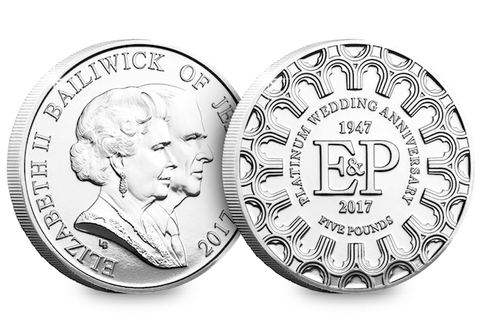 Platinum Wedding Anniversary £5 Coin
