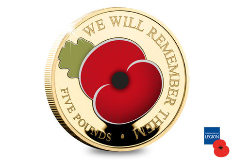 2020 'We Will Remember Them' CuNi Proof £5