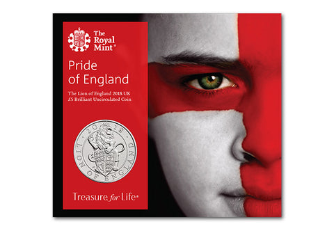 UK 2018 Lion of England £5 BU Pack - The Westminster Collection International