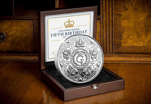 HRH Prince George's Fifth Birthday Silver Proof Five Pound Coin - The Westminster Collection International