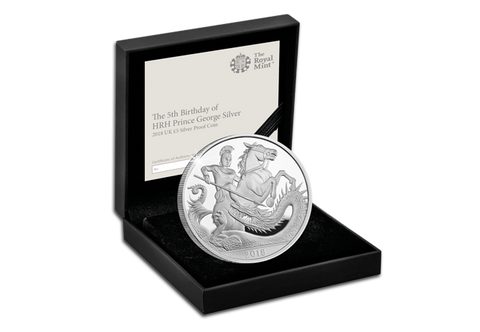 UK 2018 5th Birthday of HRH Prince George Silver Proof £5 Coin - The Westminster Collection International