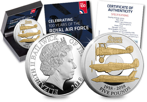 The RAF Centenary Five Pound Proof Coin - The Westminster Collection International