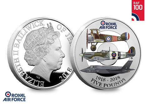 The RAF Centenary Silver Proof Five Pound Coin