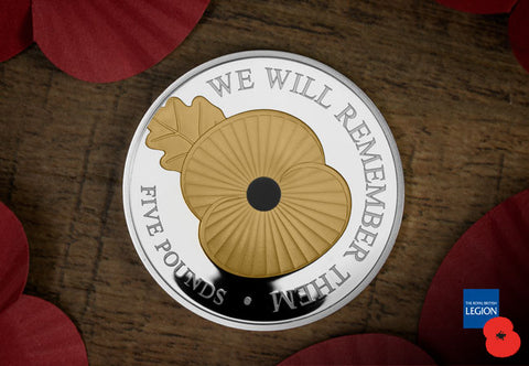 The 2020 'We Will Remember Them' Silver Proof £5