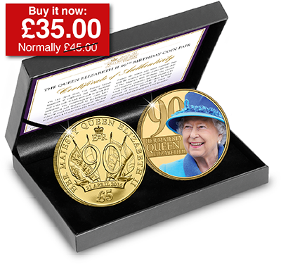The Queen Elizabeth II 90th Birthday Coin Pair - The Westminster Collection International