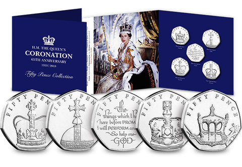 The Sapphire Coronation Fifty Pence Coin Set - The Westminster Collection International