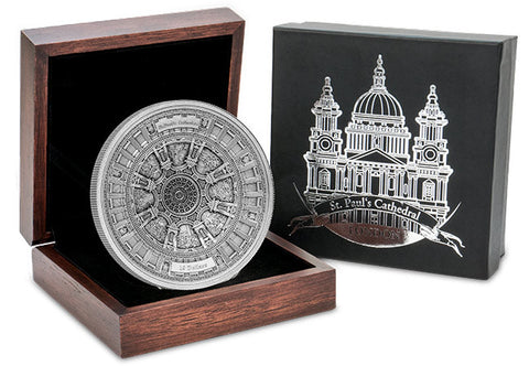 The St Paul's Cathedral Deep Relief Silver Coin