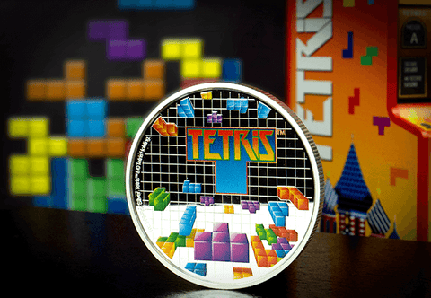 The Official Tetris Silver Proof 1oz Coin - The Westminster Collection International
