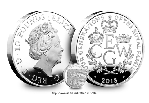 UK 2018 Four Generations of Royalty 5oz Silver Proof