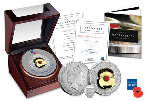 The 2018 Remembrance Masterpiece Poppy Coin - The Westminster Collection International