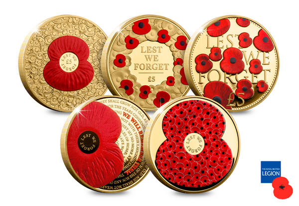 The First World War Centenary Poppy Coin Collection