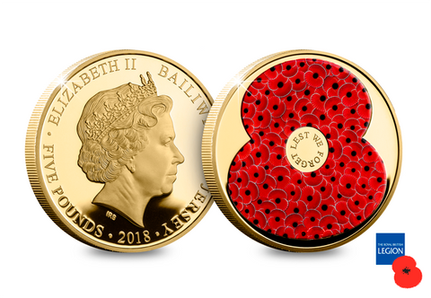 The Official 2018 Gold-Plated Remembrance Proof Coin - The Westminster Collection International