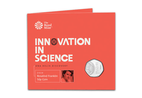 UK 2020 Rosalind Franklin 50p BU Pack