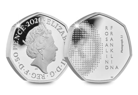 UK 2020 Rosalind Franklin Silver Proof 50p