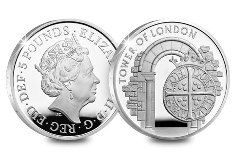 UK 2020 The Royal Mint Silver Proof £5 Coin