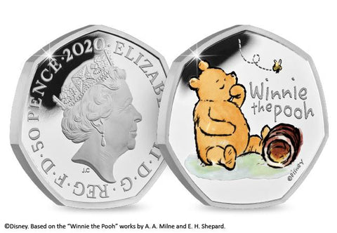 UK 2020 Winnie the Pooh Silver Proof 50p