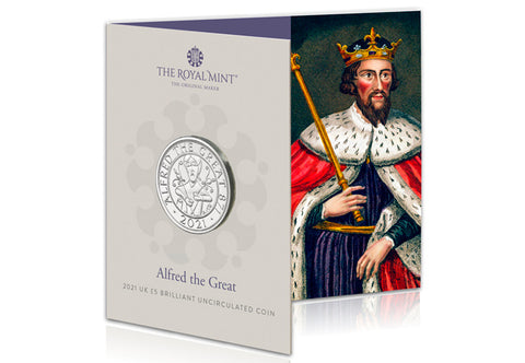 UK 2021 Alfred the Great £5 BU Pack