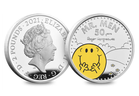 UK 2021 Mr Happy 1oz Silver Proof Coin