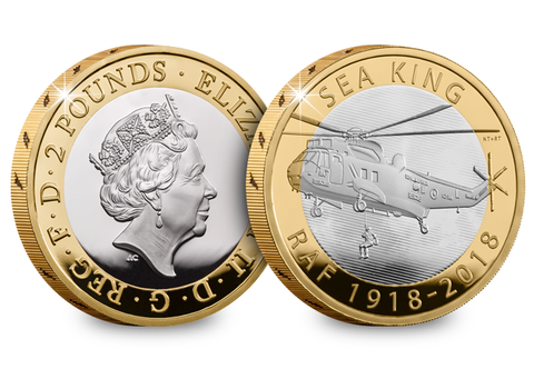 UK 2018 RAF Sea King Silver Proof £2 - The Westminster Collection International