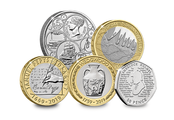 Uk 2019 Annual Coin Set The Westminster Collection