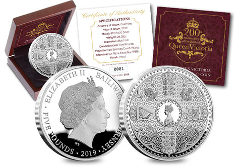 The Queen Victoria Silver Proof Five Pound Coin - The Westminster Collection International