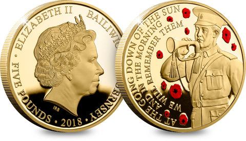 The WWI Centenary Gold-plated Proof Coin - The Westminster Collection International
