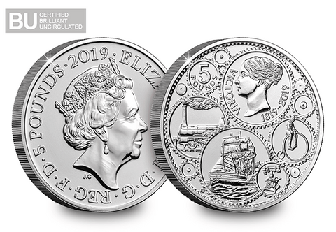 2019 UK Queen Victoria CERTIFIED BU £5 - The Westminster Collection International