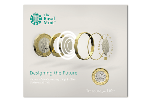 2017 UK New 12-Sided BU £1 Coin Pack