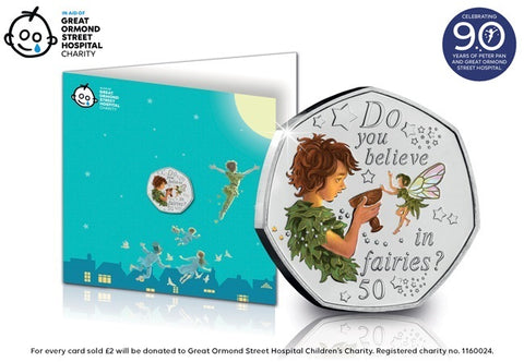 The 2020 Peter Pan Colour 50p Notecard