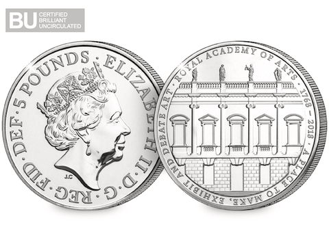 2018 UK Royal Academy of Arts CERTIFIED BU £5