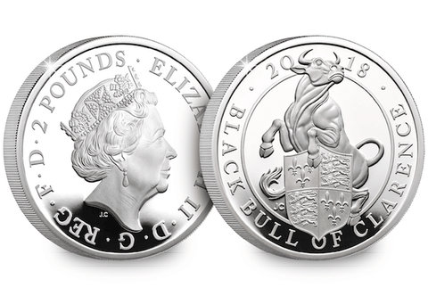 UK 2018 'Black Bull of Clarence' 1oz Silver Proof Coin