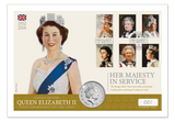 Her Majesty in Service 2018 Silver Coin Cover - The Westminster Collection International