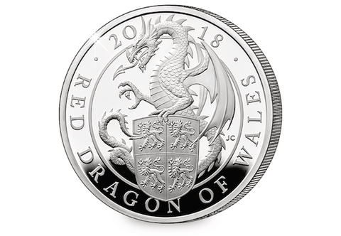 Image result for picture of 2018 wales dragon silver coin