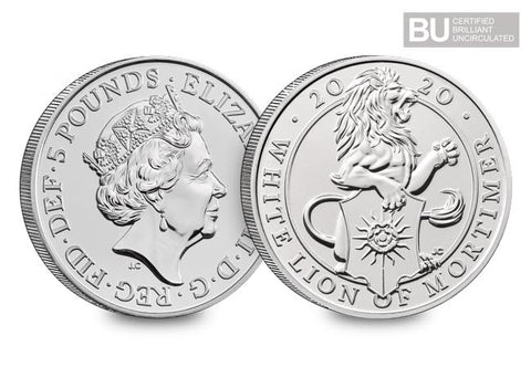 2020 UK Lion of Mortimer CERTIFIED BU £5 - The Westminster Collection International