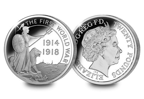 The First World War Britannia Silver Coin - The Westminster Collection International