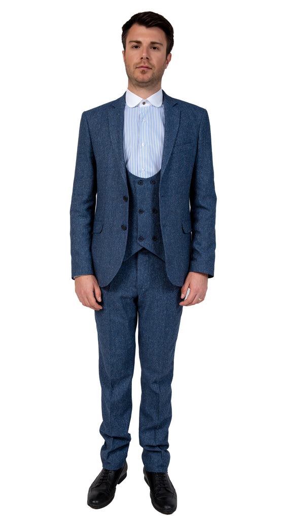 Peaky Blinders Blue Tweed 3 Piece Suit - Jack Martin Menswear
