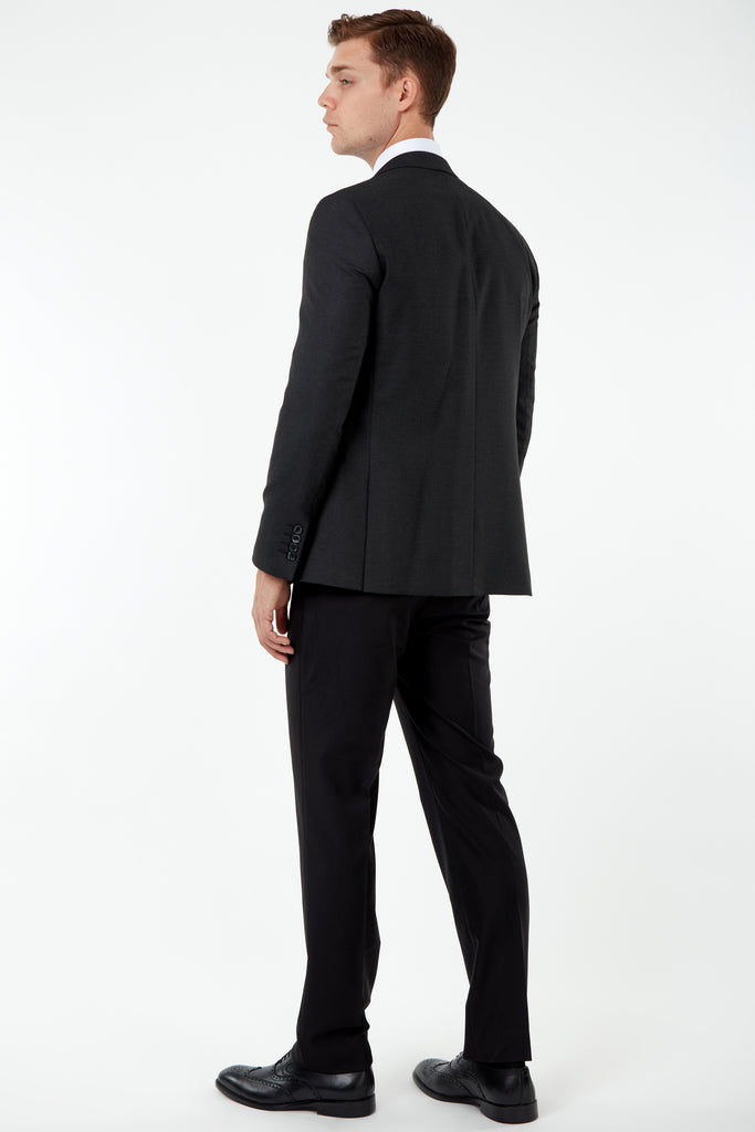 JACKIE - Ash Black Birdseye 3 Piece Mix & Match Suit