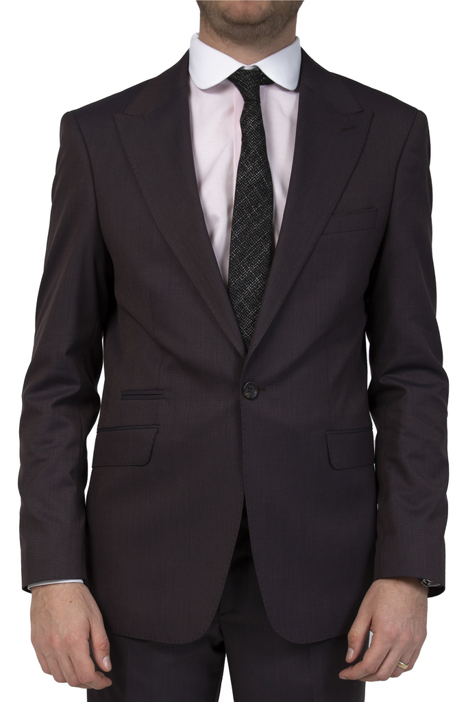 Bronze Brown Semi Plain Slim Fit Suit Jacket / Blazer (PERCY)