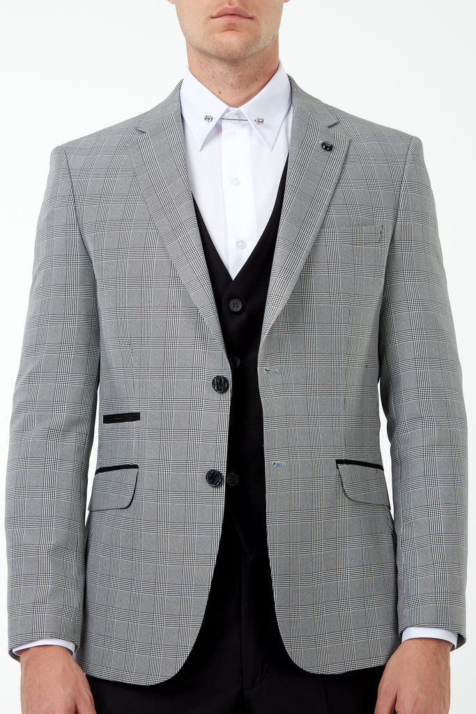 GLEN - Prince of Wales Check 3 Piece Mix & Match Suit